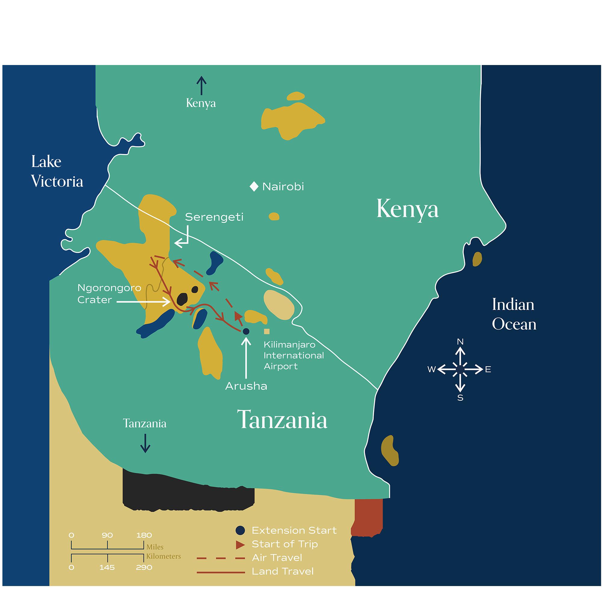 "This map visually depicts Metamo's ""Wildlife Safari"" extension."